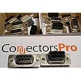 Pc Accessories-DB9 Female D-Sub Crimp Type Connector, 10-PACK