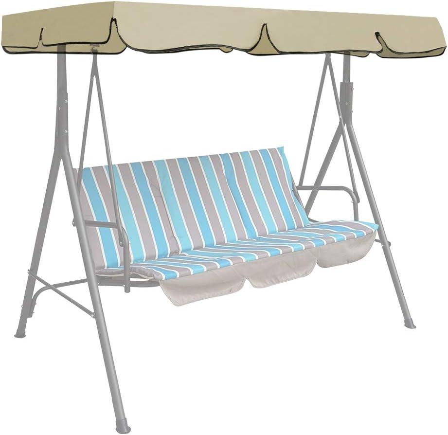 Iraza - Techo de repuesto para columpio de jardín, silla de columpio, hamaca, funda universal, columpio de 3 plazas, protección UV, funda de repuesto para el sol, columpio, arena: Amazon.es: Jardín