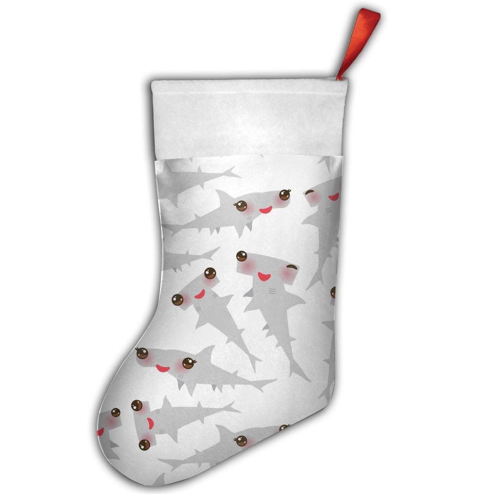 Cute Hammerhead Shark Baby Christmas Stocking Red Xmas Socks