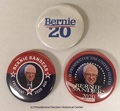- Presidential Election Historical Center Bernie Sanders 3-Pack Campaign Button (SANDERS-3PAK-001)