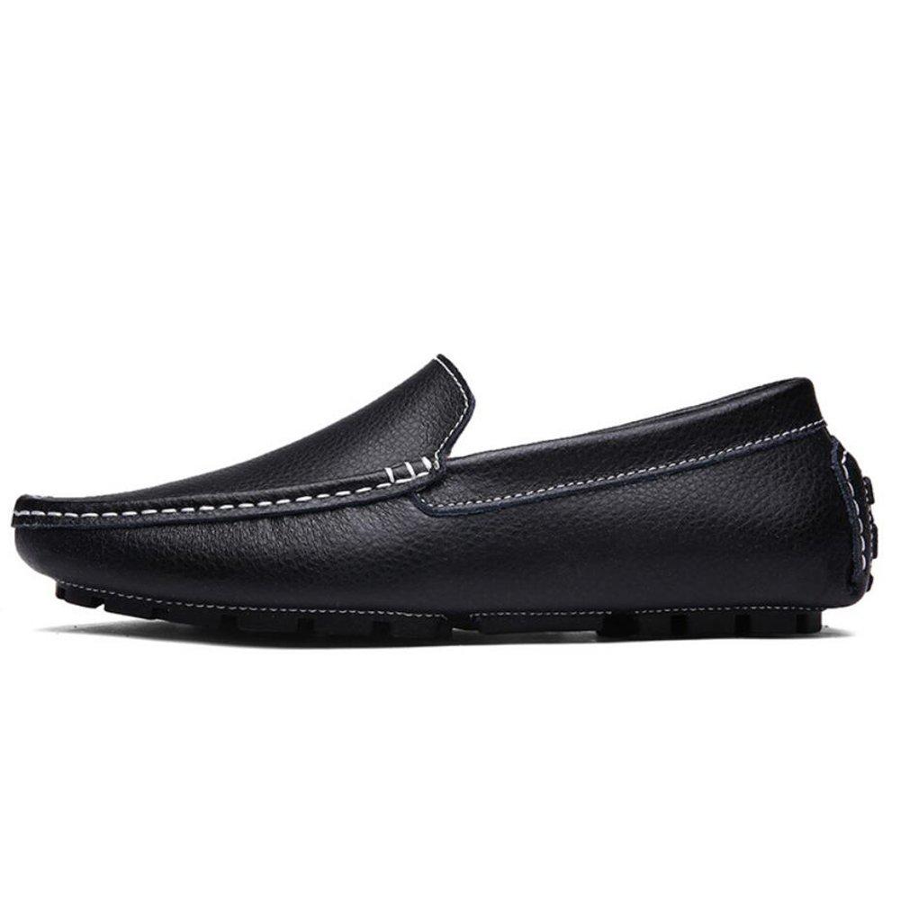 CAI Herrenschuhe Leder/PU Slipper & Slip-Ons Frühjahr/Sommer / Herbst Herren Komfort Driving Schuhes Wanderschuhe (Farbe : Schwarz, Größe : 38)