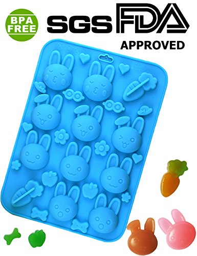 PERNY Mini Rabbit Silicone molds, Candy / Jelly / Chocolate