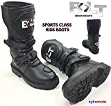 MOTORBIKE BOLT XK15 KIDS MX OFF ROAD BOOTS Motorcycle Waterproof Quad ATV Boys & Girls Junior Racing Sports Boot (UK 10 / EU 28)