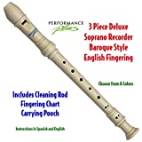 Performance Plus RECB-W Deluxe Soprano Recorder in Ivory White