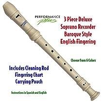 Performance Plus RECB-W Deluxe Soprano Recorder in Ivory White