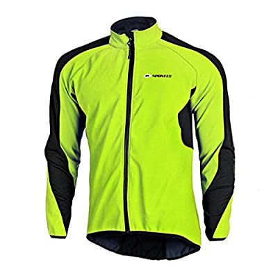 Sponeed Men's Wind Jacket Fleece Coat Windproof Thermal Biking Clothes Cycling