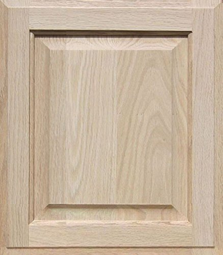 Unfinished Oak Cabinet Door, Square with Raised Panel by Kendor 16H x 14W