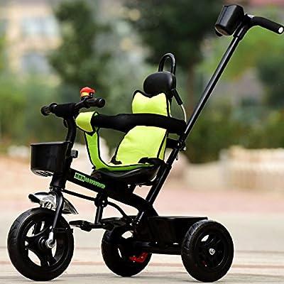 TUJHGF Triciclos para Niños Bicis para Bebés Niños Niñas Auto-Ciclismo Carritos para Bebés de 1 A 6 Años,Green
