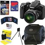 "Nikon COOLPIX P510 16.1 MP CMOS Digital Camera with 42x Zoom and ""GPS"" (Black) + 6pc Bundle 8GB Accessory Kit, Best Gadgets"