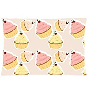 Custom Colorful and Sweet Icecream Rectangle Soft Pillow Case Standard Size 20x30
