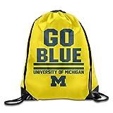 Michigan Wolverines Local Verbiage Blue GYM Drawstring Backpack Bag