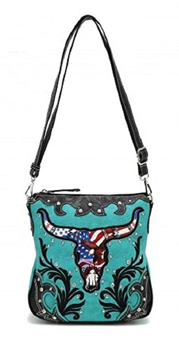 1cc34eb59cc Turquoise Western Concealed Carry Crossbody Bag
