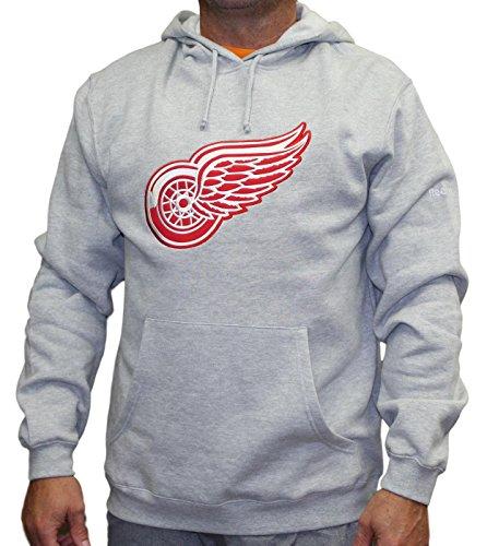 Detroit Red Wings Grey Playbook Fleece Hooded Sweatshirt (Small)