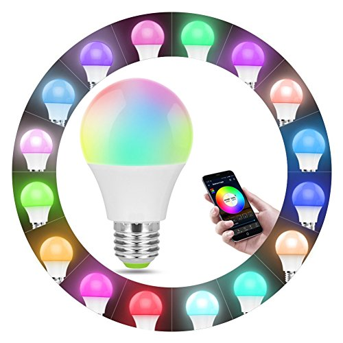 Smart WiFi Light Bulb, RGB Led Light Bulbs, Compatible with Alexa Google Home Assistant and IFTTT, No Hub Required Size 1 pc Led Light Bulb +GU24 to E27 Adapter