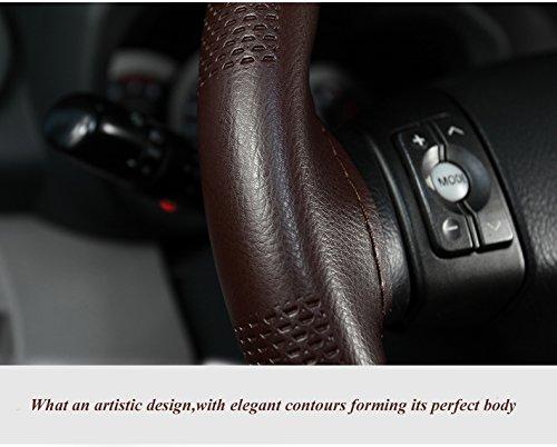 Bestauto Carbon Fiber Steering Wheel 14 Steering Wheel Universal Fit Black
