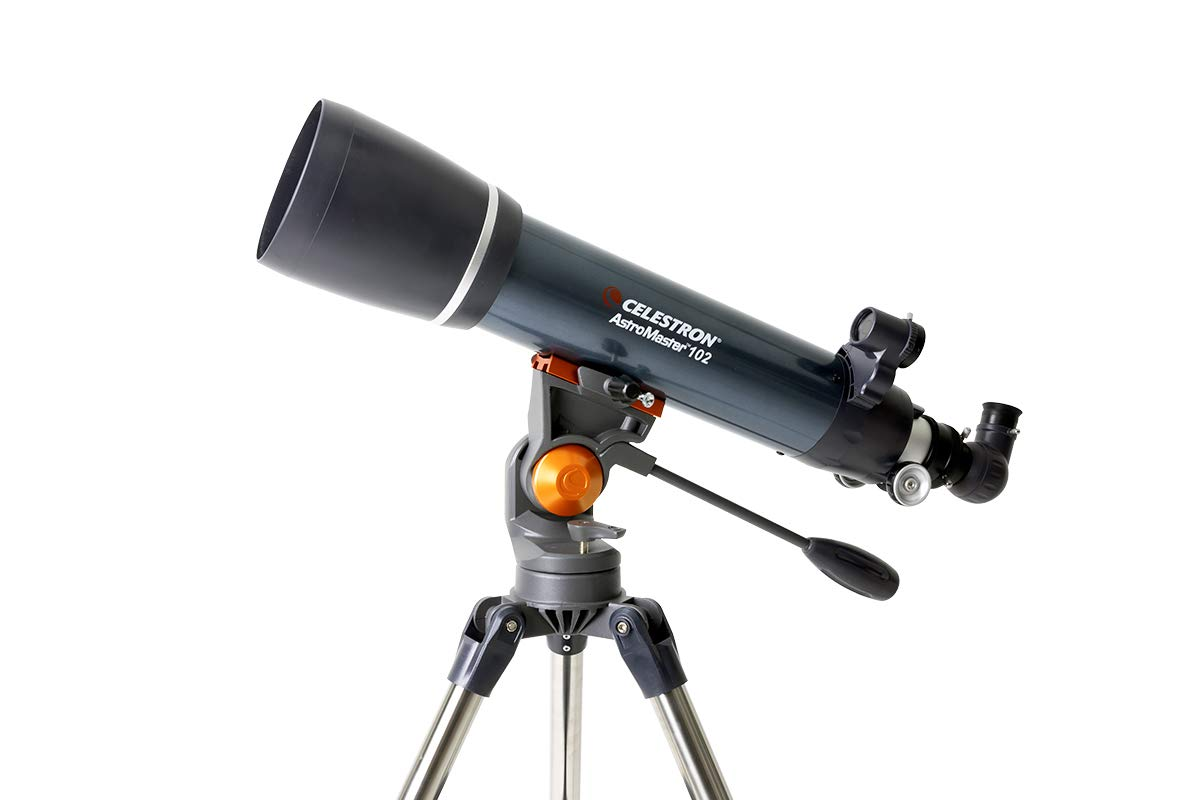 Celestron - AstroMaster 102AZ Refractor Telescope - Refractor Telescope for Beginners - Fully-Coated Glass Optics - Adjustable-Height Tripod - Bonus Astronomy Software Package by Celestron