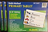 Set of 3 Top Flight Primary Writing Tablets 5/8'' Ruling 11 x 8-1/2 inches, 40 sheets per tablet