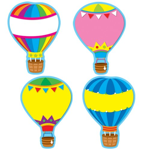 Carson Dellosa Hot Air Balloons Cut-Outs(36pcs) -