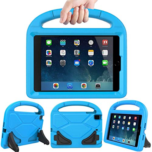 Lmaytech Kids case for iPad Mini 4 5 - Light Weight Shockproof Super Protection Portable Handle Friendly Convertible Stand Kids Case for iPad Mini 4, iPad Mini 5(2019 5th Generation), Blue (Dr Who Ipad Mini Case)
