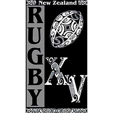 Serviette De Bain Rugby.Mctissus Serviette De Plage Rugby New Zealand 95 Cm X 175 Cm