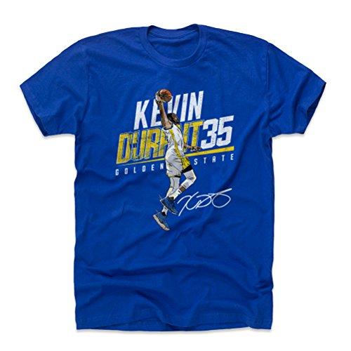 500 LEVEL Kevin Durant Cotton Shirt Large Royal Blue - Golden State Basketball Men's Apparel - Kevin Durant Slant Y (Golden State Warriors Custom Jersey)