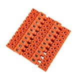 uxcell 5pcs 600V 36A Dual Row 10 Positions Screw Terminal Electric Barrier Strip Block
