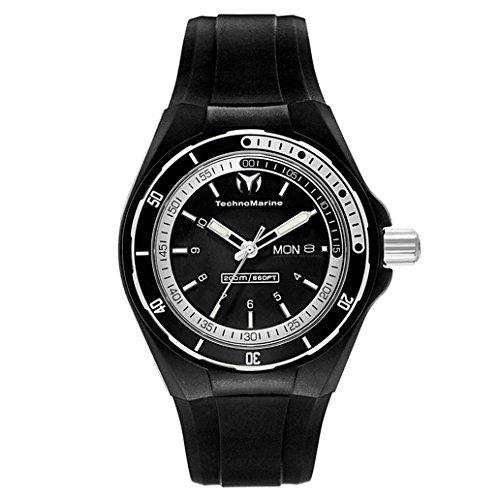 technomarine-unisex-110012-cruise-sport-3-hands-black-and-white-dial-watch