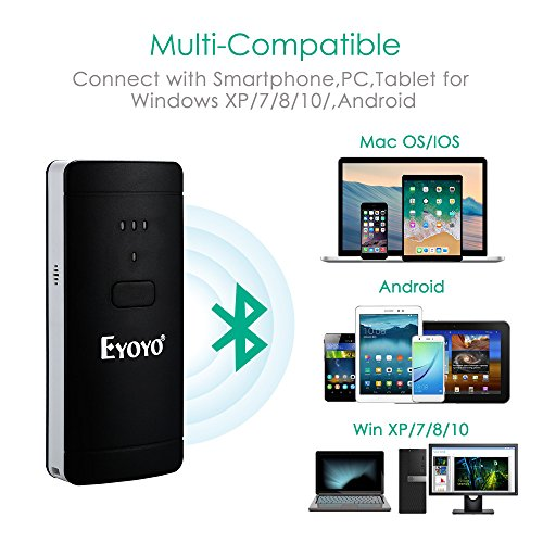 Eyoyo USB Wired & Wireless 2D QR Barcode Scanner, Portable Handheld