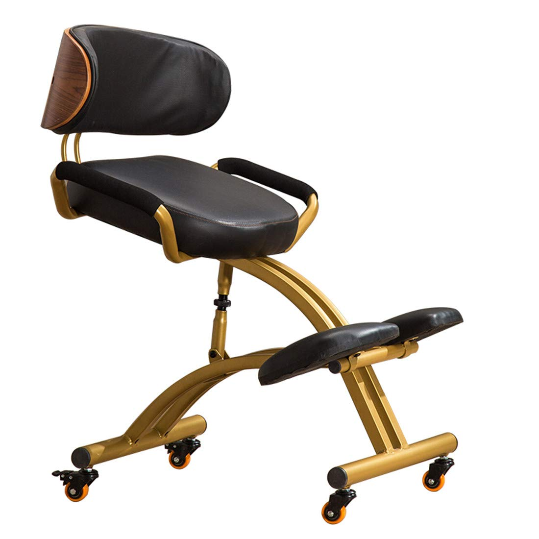 Kneeling Chairs Ergonomic Adjustable Designed with Handle Cushions Posture with an Angled Office Seat Helps Prevent Coccyx Pain by AJ ZJ Kneeling Chairs