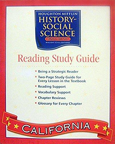 Social Studies, Grade 6 Reading Study Guide: Houghton Mifflin Social Studies California