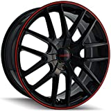 Touren TR60 3260 Wheel with Black Finish with Red Ring (16x7''/5x100mm)