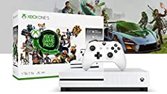Own the Xbox One S Starter Bundle (1TB), and dive into the very BEST of Xbox One. Get instant access to over 100 great games with 3 months of Xbox game Pass. Enjoy an expansive catalog of games carefully curated for high quality and fun gamep...