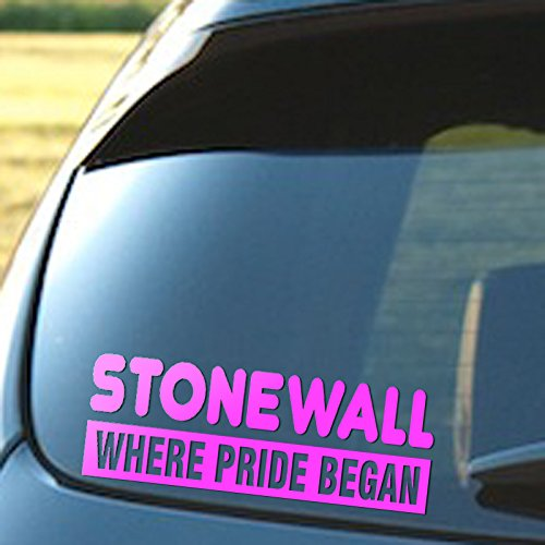 STONEWALL Where The Pride Began, Vinyl Decal, Gay Pride, Lesbian, LGBT ()