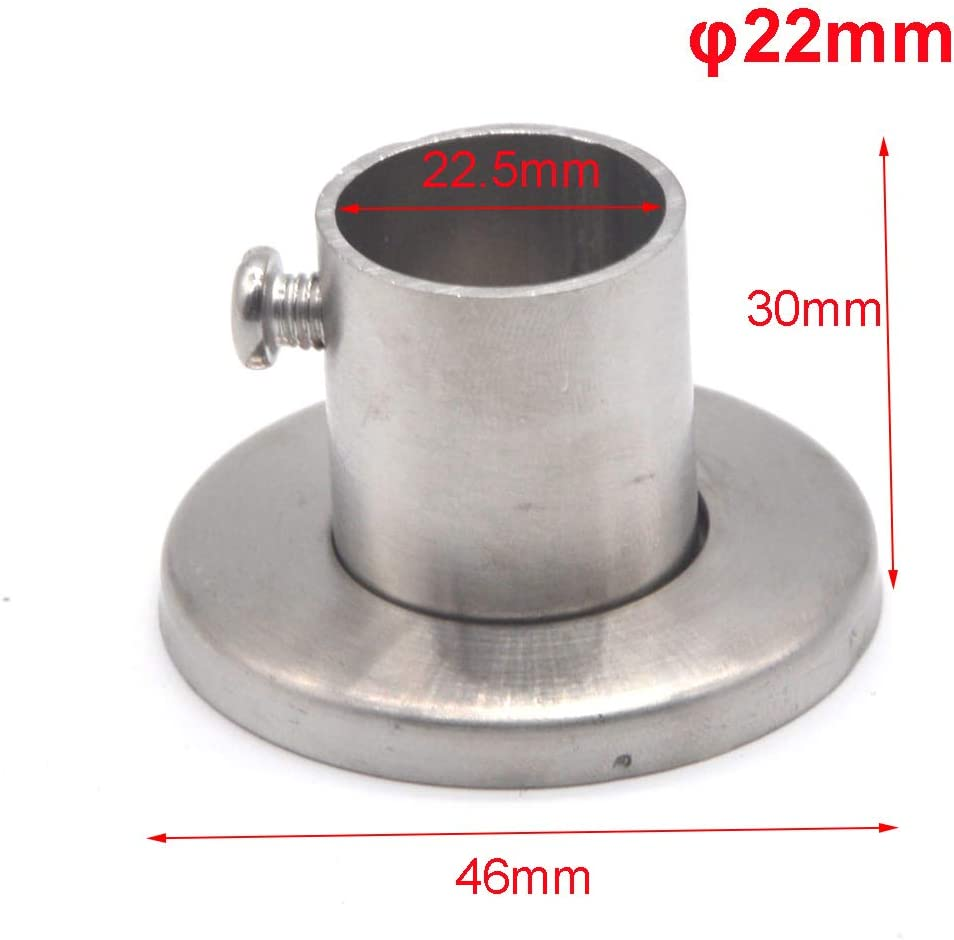4 St/ück Schrank Stange Unterst/ützung Flansch Halter 304 Edelstahl f/ür Schrank Pol Rohr bis zu 25 mm Durchmesser