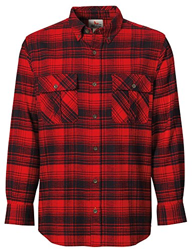 Field & Stream Men's Heritage Midweight Flannel (Hunter Pmp Red, S)