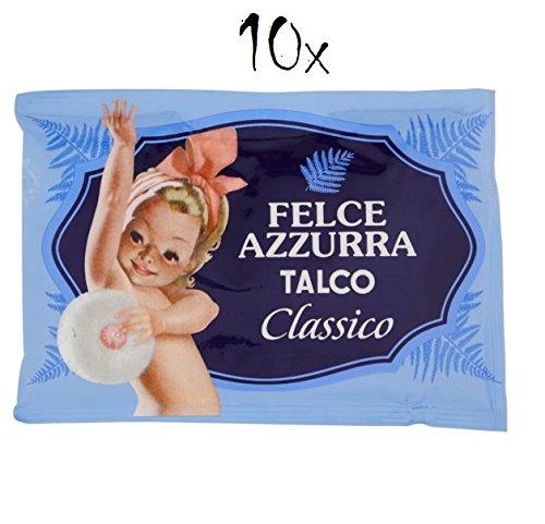 PAGLIERI Felce Azzurra Talco Classico Lot de 10 poudres corporelles 100 g