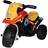 Brunte Turbo Battery Operated Sports Ride On Bike Red With Light And Sound