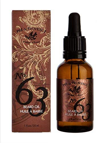 No. 63 Men's Beard Oil, Aromatic, Warm, Spicy Masculine Fragrance to Condition and Lock in Moisture for a Smooth & Soft Beard, Enriched With Shea Butter & Vitamin E (1 fl oz)