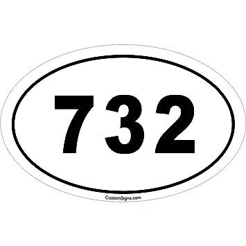 Amazoncom Area Code Bumper Sticker For Car Automotive - 732 area code