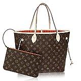 Louis Vuitton Neverfull Best Deals - Authentic Louis Vuitton Neverfull MM Monogram Canvas Abricot Handbag Article:M41388