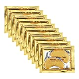 Adofect 30 Pairs Gold Eye Mask Power Crystal Gel