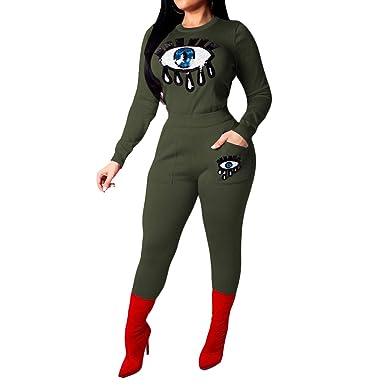 c8860c11ac1 Amazon.com  Women 2 Piece Outfits Tracksuits - Sexy Stripe Sweatsuit Long Pants  Set Jumpsuit  Clothing