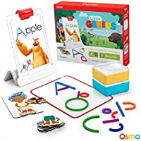 Osmo - Little Genius Starter Kit for iPad - 4 Hands-On Learning Games - Preschool Ages - Problem Solving & Creativity (Osmo iPad Base Included)