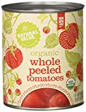 Natural Value Organic Whole Peeled Tomatoes in Tomato Juice, 28 Ounce Cans (Pack of 12)