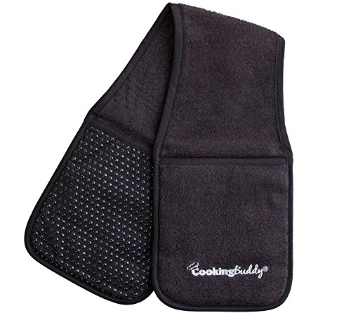 Campanelli's Cooking Buddy - Professional Grade All-In-One Pot Holder, Hand Towel, Lid Grip, Tool Caddy, and Trivet. Heat Resistant up to 500ºF. As Seen On Facebook - Ray All