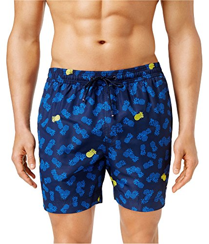 Tommy Hilfiger Men's Pineapple Swim Trunks - M - Peacoat Blue by Tommy Hilfiger (Image #1)
