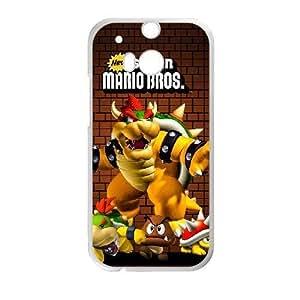 Generic for HTC One M8 Cell Phone Case White Super Mario Custom HSKDKKALL4767