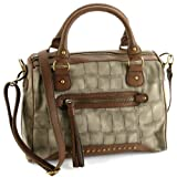 Steve Madden Bcamila Croco Satchel Bag – Olive, Bags Central