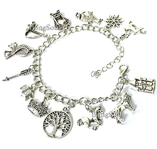 Halloween Film Costumes Ideas (BlingSoul 13 Themed Chronicles of Narnia Charm Bracelet - Christmas Cosplay Costume Jewelry)