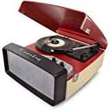 Crosley CR6010A-RE Collegiate Portable USB Turntable with Software for Ripping and Editing Audio, Red & Cream